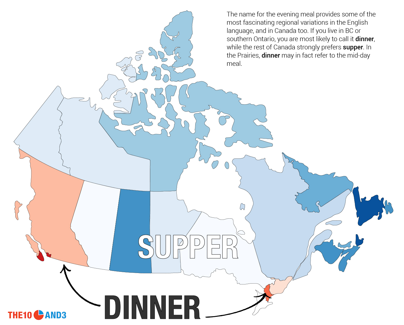 Regional Map Of Canada.This Is How Canada Talks The 10 And 3