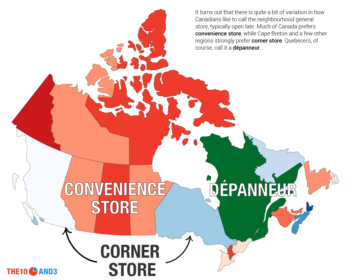 Interactive Map Of Canada And Provinces.This Is How Canada Talks The 10 And 3