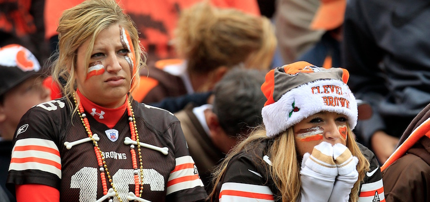 Sad Cleveland Browns Fans